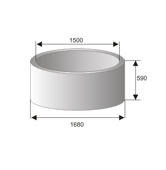 Кольцо стеновое КС 15.6 (КЦ 15.6)