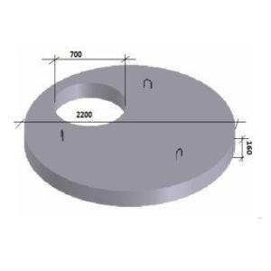 Плита перекрытия 1ПП20-1 (КЦП1-20-1)