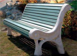 Скамейка бетонная 4.7 (Мебельный крепёж) собранная